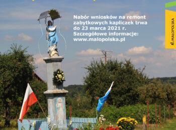Małopolskie kapliczki odzyskają dawny blask