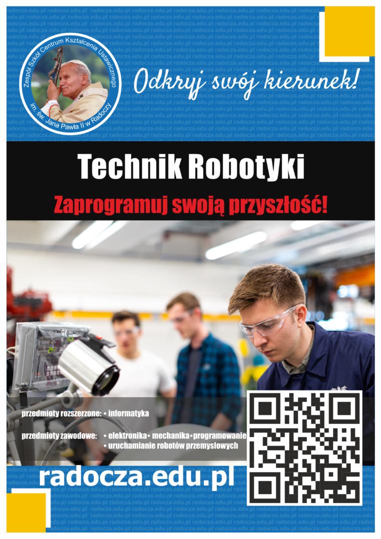 Nowy zawód w sektorze nowych technologii czyli ROBOTYKA w Zespole Szkół CKU w Radoczy