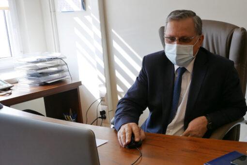 Wideokonferencja z wojewodą w sprawie szczepień