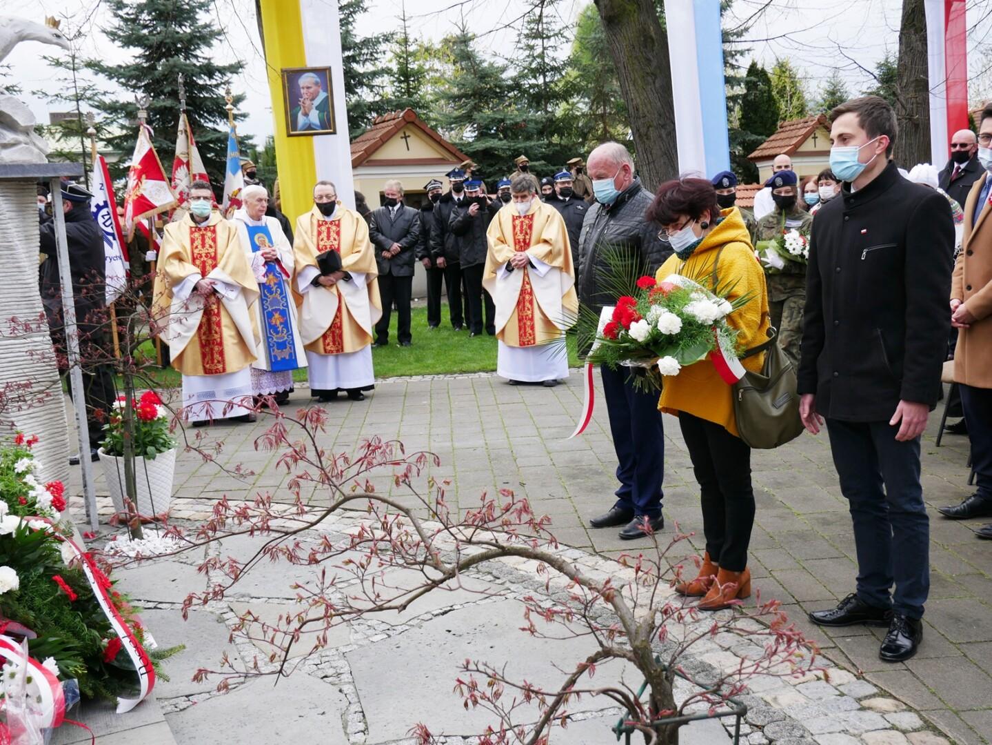 Przedstawiciele powiatu podczas obchodów rocznicy uchwalenia Konstytucji 3 Maja w naszym powiecie 230.