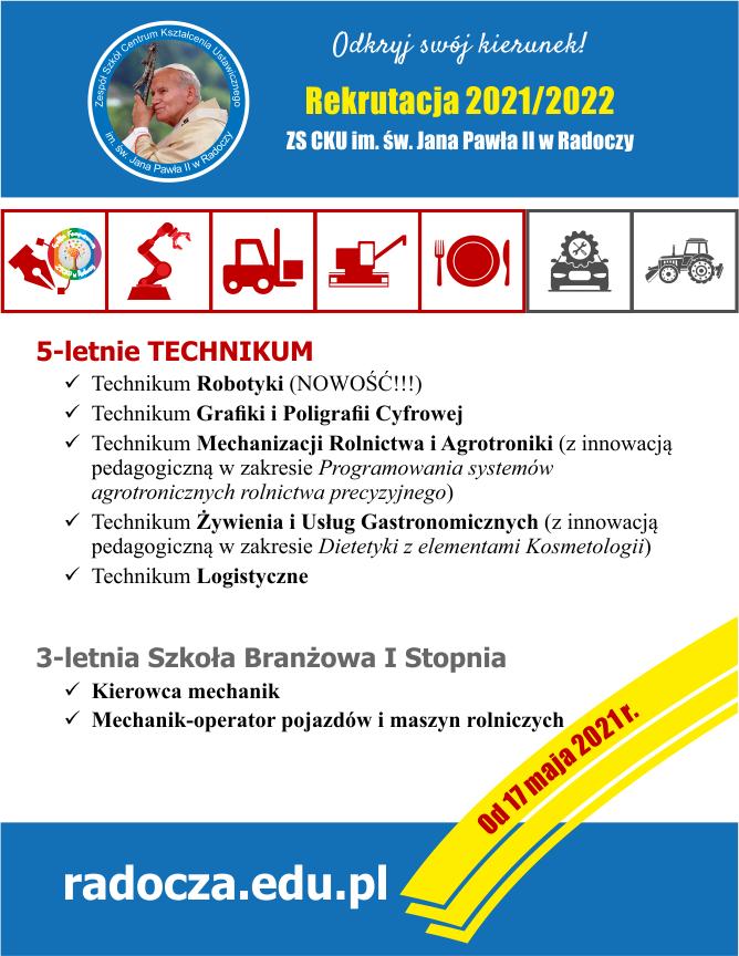 oferta eduakcyjna ZS CKU w Radoczy