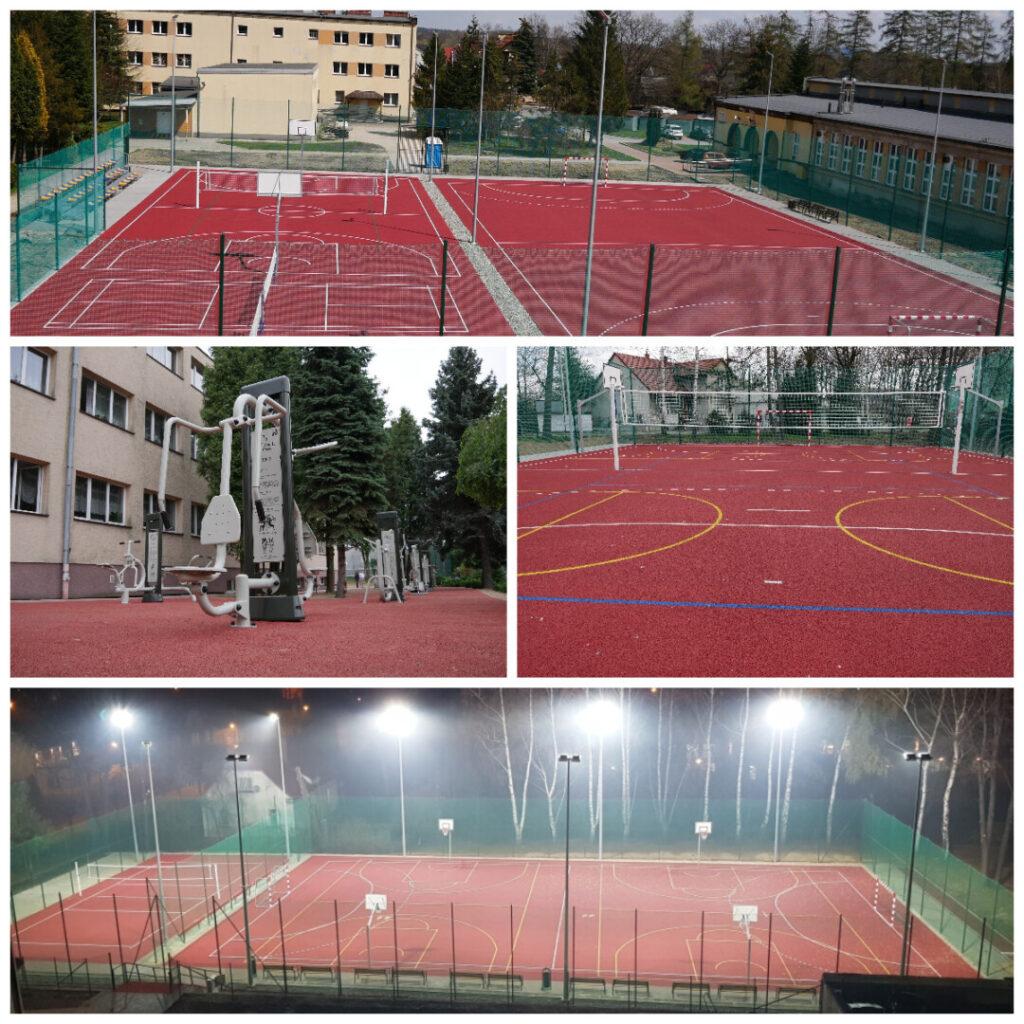 nowe obiekty sportowe powstałe przy szkołach średnich podlegających Powiatowi Wadowickiemu