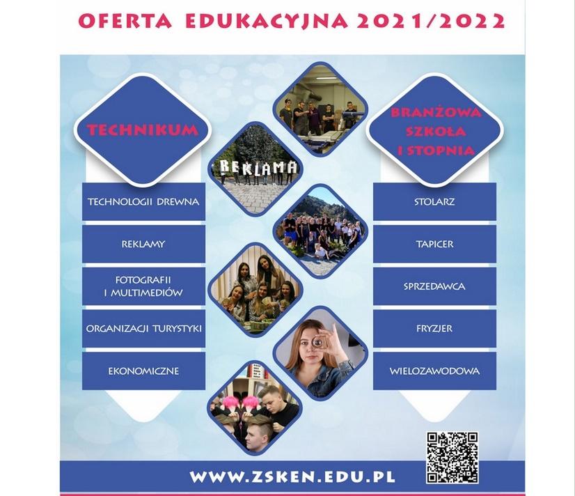 Oferta edukacyjna ZS im. KEN w Kalwarii Zebrzydowskiej obejmuje zarówno technikum, jak i szkołę branżową I stopnia
