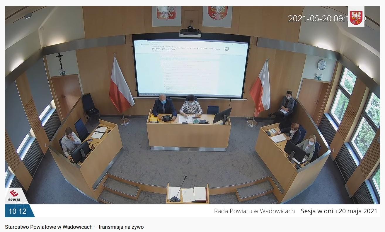 XXV sesja Rady Powiatu w Wadowicach (transmisja na żywo)