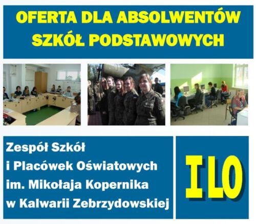 Zespół Szkół i Placówek Oświatowych w Kalwarii Zebrzydowskiej proponuje uczniom klas 8. sześć profilów