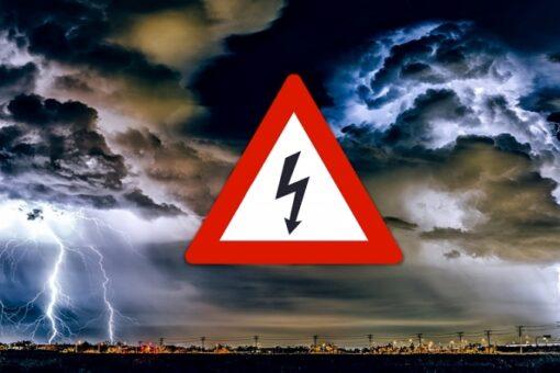 ostrzeżenia związane z burzami