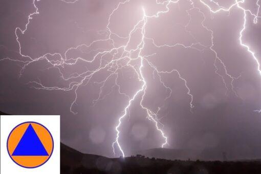 ostrzeżenie o możliwych burzach z gradem 9.07.2021 r.