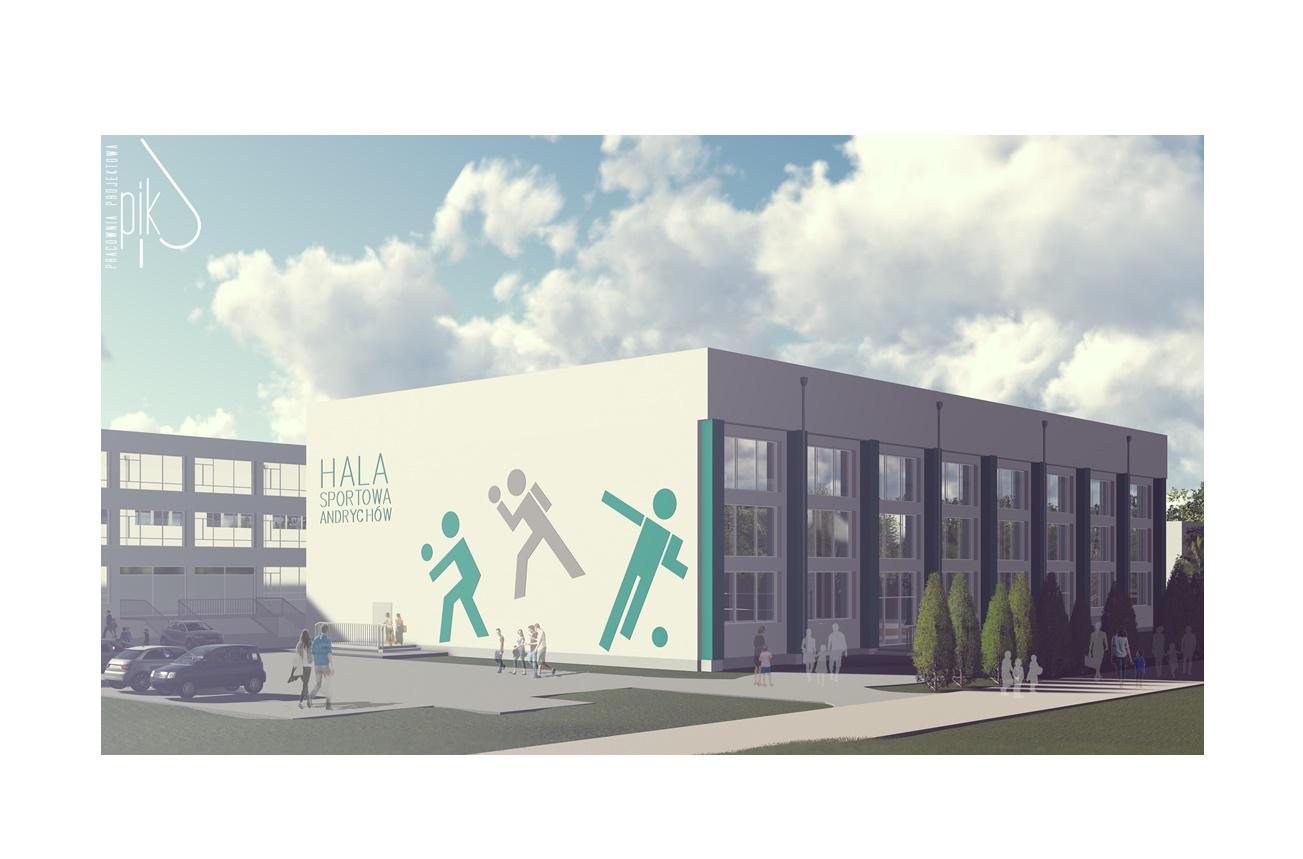 wizualizacja nowej hali sportowej w Andrychowie