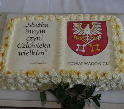 """Przyznanie tytułu """"Zasłużony dla Powiatu Wadowickiego"""" 16.09.2021."""